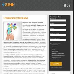 5 Fundamentos de diseño móvil