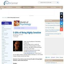 5 Gifts of Being Highly Sensitive