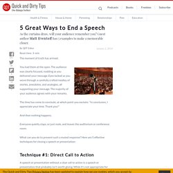 5 Great Ways to End a Speech