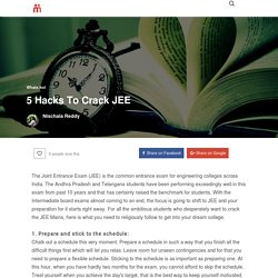 5 Hacks To Crack JEE