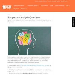 5 Important Analysis Questions