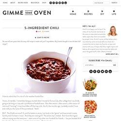 5-Ingredient Chili