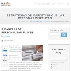 5 maneras de personalizar tu web