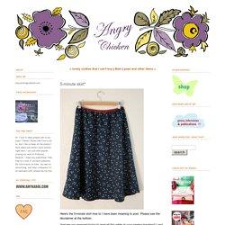 5-minute skirt*