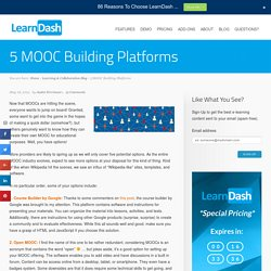 5 MOOC Building Platforms