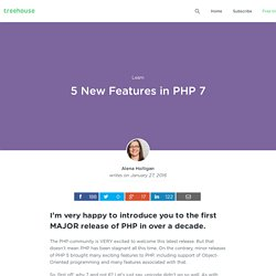 5 New Features in PHP 7