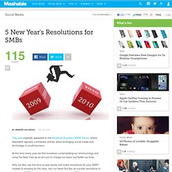 5 New Year's Resolutions for SMBs