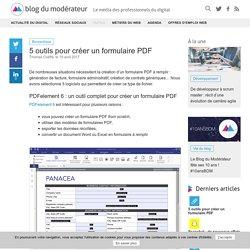 5 outils pour créer un formulaire PDF