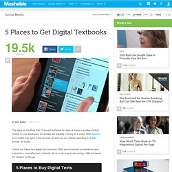5 Places to Get Digital Textbooks
