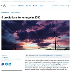 *5 predictions for energy in 2030