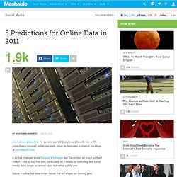 5 Predictions for Online Data In 2011