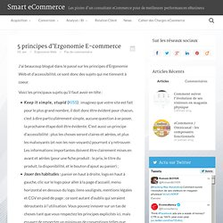 5 principes d'Ergonomie E-commerce
