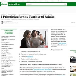 Teacher - 5 Principles for the Teacher of Adults