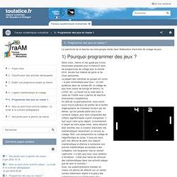 5 - Programmer des jeux en classe ?