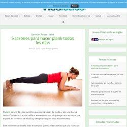 5 razones para hacer plank todos los días
