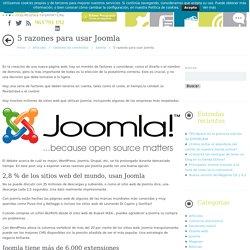 5 razones para usar Joomla - GSoft