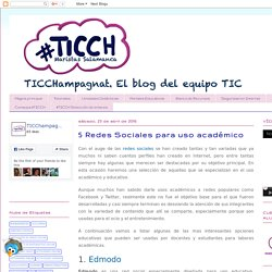 TIC Champagnat: 5 Redes Sociales para uso académico