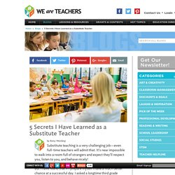 5 Secrets of Substitute Teaching
