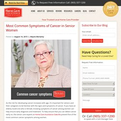 5 Signs of Cancer in Elderly Women