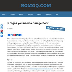 5 Reasons Why You Need A Garage Door