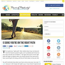 5 Signs You're On the Right Path