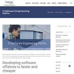5 Software Engineering Myths