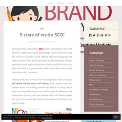 5 stars of crude SEO! – BRAND MOMMY