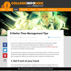 5 Stellar Time Management Tips