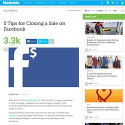 5 Tips for Closing a Sale on Facebook