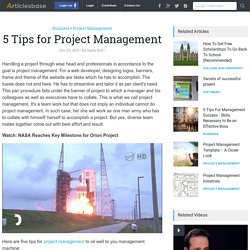 5 Tips for Project Management