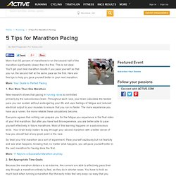 5 Tips for Marathon Pacing