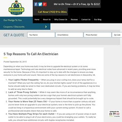 5 Top Reasons to Call an Electrician