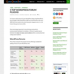 5 Top WordPress Forum Plugins