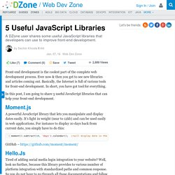 5 Useful JavaScript Libraries