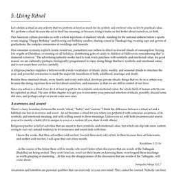 5. Using Ritual