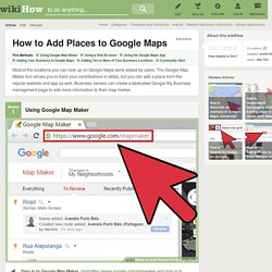 How to Add Places to Google Maps