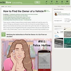 5 Ways to Find the Owner of a Vehicle