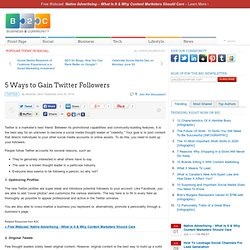 5 Ways to Gain Twitter Followers