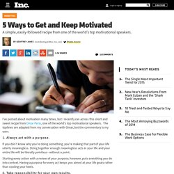 5 Ways to Get and Keep Motivated
