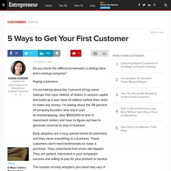 5 Ways to Get Your First Customer