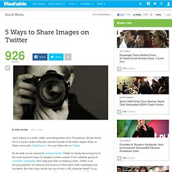5 Ways to Share Images on Twitter