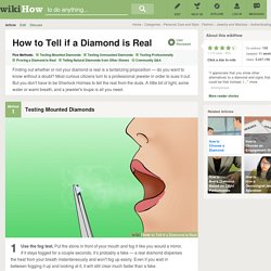5 Ways to Tell if a Diamond is Real