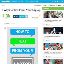 5 Ways to Text From Your Laptop