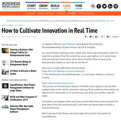 5 Ways to Cultivate Innovation
