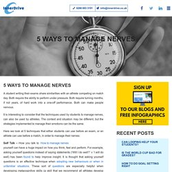 5 Ways To Manage Nerves
