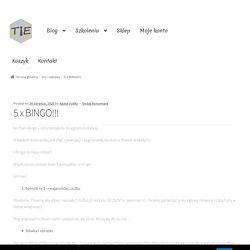 5 x BINGO!!! – TIE – Teaching is easy