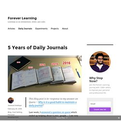 5 Years of Daily Journals