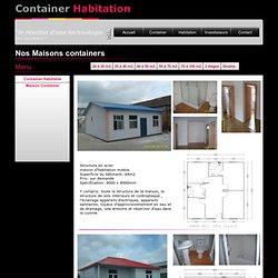 50 à 70 m2 container habitable