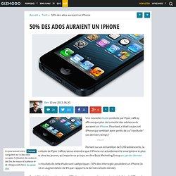 50% des ados auraient un iPhone