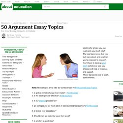 Controversial argument essay topics